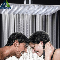 "Luxury 12"" Rainfall Shower Head Chrome Finished Square Rain Bathroom Stainless Steel Showerhead"