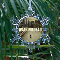 AMC TV show The Walking Dead Snowflake Blinking Light Holiday Holiday Christmas Tree Ornament