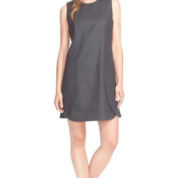 Women's Tory Burch Wool Flannel Shift Dress,