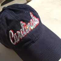 St. Louis Cardinals BLING hat ~ you can't get anything like this at the store!