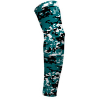 Digital Camo Dark Turquoise and Black Arm Sleeve