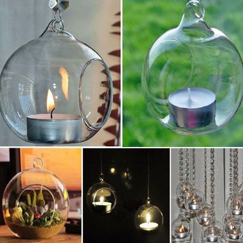 Crystal Glass Hanging Candle Holder