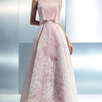 Beside Couture - CH1642 Sheer Lace Layered Evening Gown