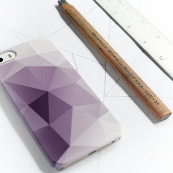 iPhone 6 Case Geometric iPhone 5S Case, Purple Modern iPhone 5C Case, Abstract iPhone 4S Case, iPhone 6 Plus Triangles