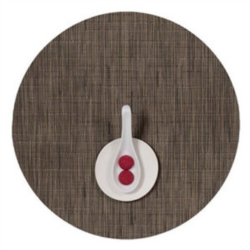 Chilewich Bamboo Round Placemat S/4 | Charcoal