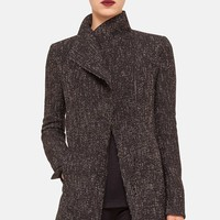 Women's Akris punto Asymmetrical Zip Tweed Jacket,