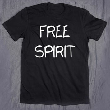 Free Spirit Hippie Slogan Tee Traveler Travel Adventure Tumblr Top T-shirt