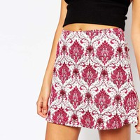 Motel Aline Mini Skirt in Santorini Print