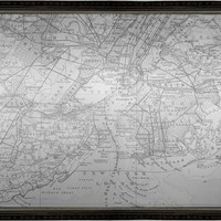 New York Map Mirror (1218) - Illuminada