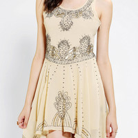 Pins And Needles Embellished Chiffon Skater Dress