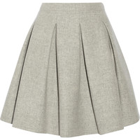Miu Miu - Pleated wool mini skirt