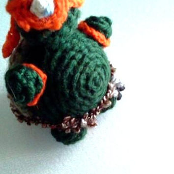 Crocheted Teenage Mutant Ninja Turtle Doll - Michelangelo