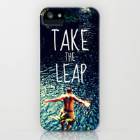 TAKE THE LEAP  iPhone Case by Tara Yarte  | Society6