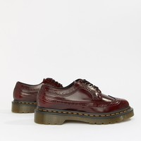Dr Martens 3989 Cherry Leather Stacked Brogues at asos.com