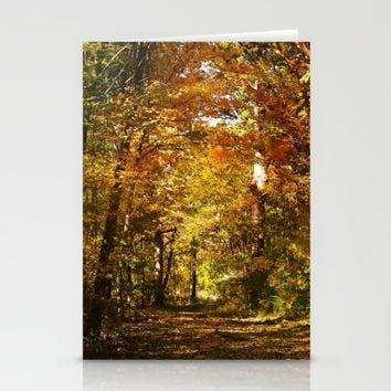 Woods Lake Trail Stationery Cards by Theresa Campbell D'August Art