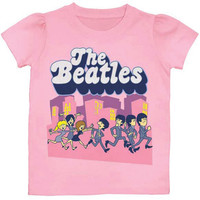 Beatles Boys' Run For Your Life Childrens T-shirt Pink