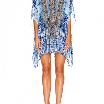 CAMILLA - POWER OF PRAYER SHORT LACE UP KAFTAN - Dresses - Shop