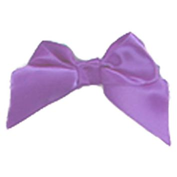Purple Ribbon Bow Glue On 3 By 1 And Half Inch