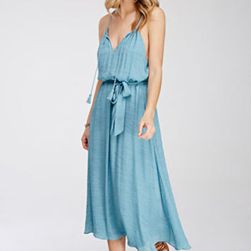 Textured Crepe Maxi Dress