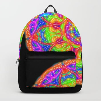 Midnight Neon Mandala Backpacks by My Blue Skye