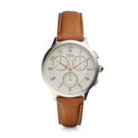 Abilene Chronograph Leather Watch, Brown