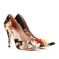 mytheresa.com -  NOVA FABRIC PRINTED SATEEN PUMPS - Luxury Fashion for Women / Designer clothing, shoes, bags
