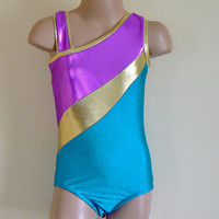 Gymnastics Dance Leotard Inspired by The American Girl Doll McKenna Size Girls 8 and Size Girls 9