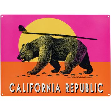 California Republic Endless Summer Vintage Metal Sign