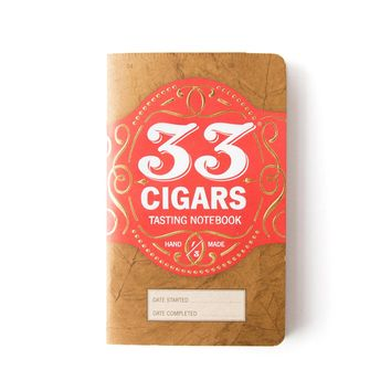 33 Books Co. 33 Cigars Tasting Notebook | Bespoke Post