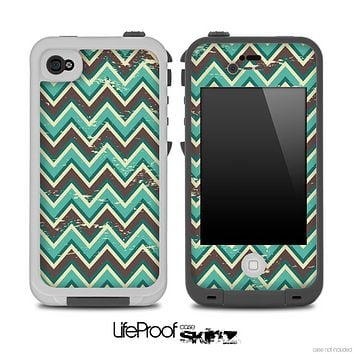 Vintage Green V3 Chevron Pattern Skin for the iPhone 5 or 4/4s LifeProof Case