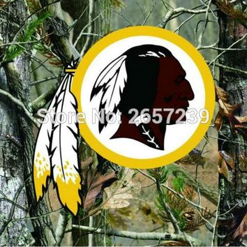 Washington Redskins Camo real tree logo Flag 3x5FT NFL banner150X90CM 100D  Polyester brass grommets custom flag, Free Shipping
