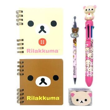 San-x Rilakkuma Mini Note, Mechnical Pencil, Eraser School Supply Stationary Set : Korilakkuma $14.99