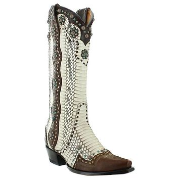 Old Gringo Women's Cheryl Natural Rattlesnake Western Boots