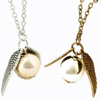 Flying Golden Snitch Replica Necklace