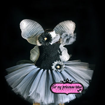 Black and White Zebra Tutu Dress Set - newborn tutu, infant tutu, baby tutu, toddler tutu, tutu costume, pageant tutu, 1st birthday tutu