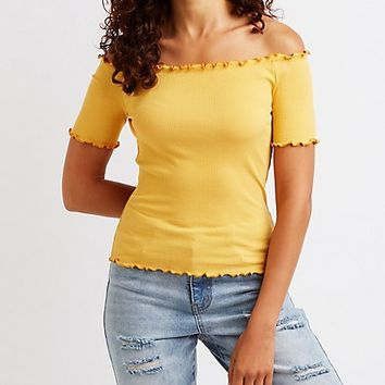 Off The Shoulder Top | Charlotte Russe