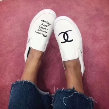 Vans x CHANEL Old Skool Flats Sneakers Sport Shoes