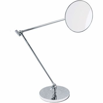 DWBA Table Adjustable Cosmetic Makeup 5x Magnifying Swivel Mirror, Chrome