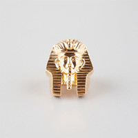 The Gold Gods Pharaoh Head Ring Gold  In Sizes