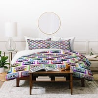Bianca Green Tape It Rainbow Duvet Cover