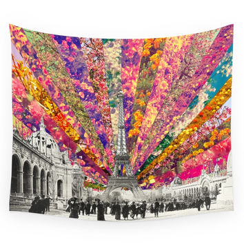 Society6 Vintage Paris Wall Tapestry
