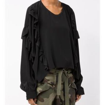FAITH CONNEXION   Long Sleeved Ruffle Top   brownsfashion.com   The Finest Edit of Luxury Fashion   Clothes, Shoes, Bags and Accessories for Men & Women