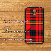 Red Tartan,samsung galaxy S4 mini case,S3 mini case,samsung galaxy S4 case,S3 case,samsung galaxy note 3 case,note 2 case,samsung s4 active