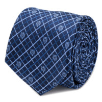 Beauty and the Beast Navy Plaid Men's Tie BY DISNEY