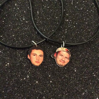 twenty one pilots josh and tyler best friends choker set