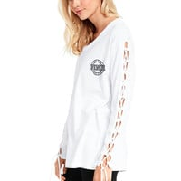 Campus Laced Long SleeveTee - PINK - Victoria's Secret