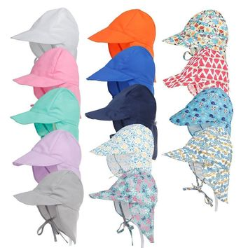 Kids Flap Cap Sun Hat (Neck/Ear Cover)