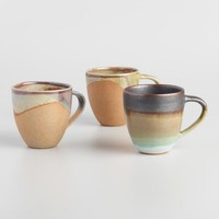 Organic Stoneware Mugs Set of 3