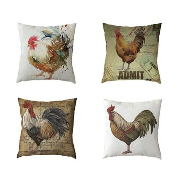 Watercolor Chicken Pillow Cases