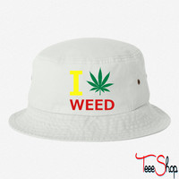 i love weed bucket hat